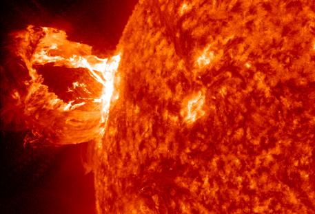 Plasma Solar Flare